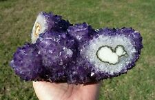 Natural HEART in Uruguay AMETHYST Stalactite Flower Crystal Points Branch