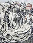 c 1460 Meister der Berliner Passion - Lamentation of Christ - Copper engraving