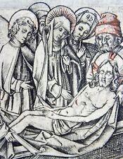 More details for c 1460 meister der berliner passion - lamentation of christ - copper engraving