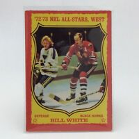 1973 74 OPC O Pee Chee Bill White 78 Chicago Black Hawks Hockey Card E646