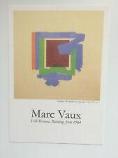 Marc Vaux, Private View invitation carte, 2012