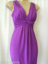 NEW ***SALE*** JANE NORMAN SIZE 10 PURPLE SLINKY TWIST FRONT DRESS
