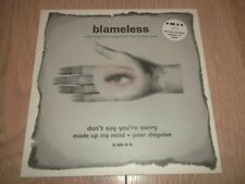 """BLAMELESS """" DON'T SAY YOU'RE SORRY """" 10"""" NUMBERED LIMITED EDITION W/ POSTER EX"""