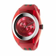 279de07682b Gucci Sync XXL Red Rubber Strap 46mm Unisex Watch YA137103