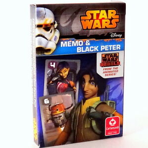 Star Wars Rebels - Black Peter and Memo, Playing Cards. Karty do Gry Star Wars.