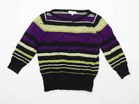 Debenhams Womens Size 14 Striped Black Jumper (Petite)