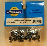 NIB HO Athearn 40029 42in Locomotive Wheel Assembly 6 Pack