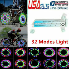 Colorful 32 LED Bike Cycling Bicycle Wheel Signal Tire Spoke Light 32 Changes US