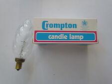 Crompton Ampoule bougie E14 40W Transparent FLAMBEAU Bougies géantes Lampe SES