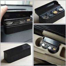 Auro Coins Storage Box Piggy bank Organizer Change Holder Dash Container Black