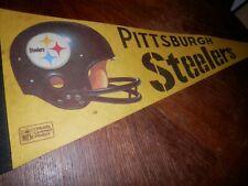 Pittsburg Steelers NFL vintage Pennant Felt, Measures 12 x 28 in.