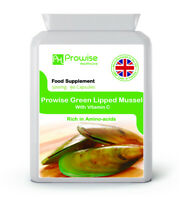Green Lipped Mussel 90 Cap 500mg Rich In Amino-acids - UK Made Prowise