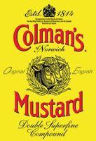 Colmans Mustard Logo Blechschild Metallschild Schild gewölbt Tin Sign 20 x 30 cm