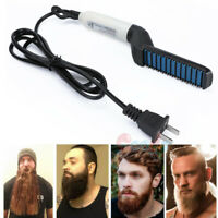 Electric Beard Straightener for Men Professional Quick Styling Hair Comb Brush