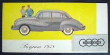 AUTO UNION DKW RANGE SALES BROCHURE FOR 1958 (DANISH).