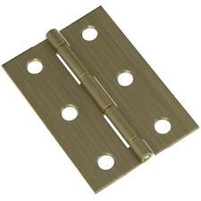 """25 Pk Solid Antique Brass 1 3/4"""" W X 2.5"""" H Jewelry Box Chest Hinge 2/Pk N211409"""