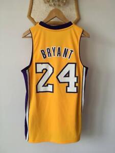 LOS ANGELES LAKERS NBA BASKETBALL JERSEY SHIRT SWINGMAN ADIDAS KOBE BRYANT #24