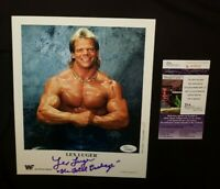 WWE WWF WCW LEX LUGER SIGNED ORIGINAL P-137 1993 8x10 PROMO PHOTO JSA CERTIFIED