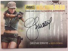 Walking Dead Season 4 PART 2 - GOLD Christian Serratos - Rosita AUTOGRAPH CS2
