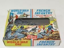 Vintage Airfix HO/OO Figures WWI FRENCH INFANTRY Complete 48 Pcs in Type 2 Box