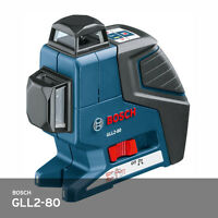 Bosch GLL2-80 360 Degree Multi Line Laser Level Alignment 5.0lbs 40m 130ft FedEx