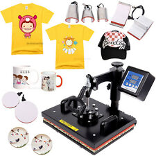 8 In 1 Digital Heat Press Machine Sublimation T-Shirt/Mug/Plate Hat Printer DIY