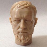 Blank Hot 1/6 Scale Star Wars Jedi Master Obi-Wan Kenobi Head Sculpt Unpainted