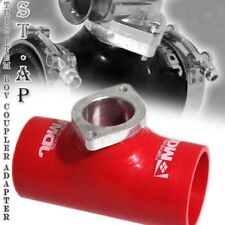 """Jdm Type-Rs Turbo Blow Off Valve Bov 2.5"""" Reinforce Silicone Adapter Pipe Red"""
