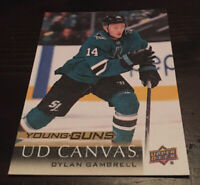 2018-19 Upper Deck Series 2 UD Canvas Young Guns Dylan Gambrell RC Rookie C222