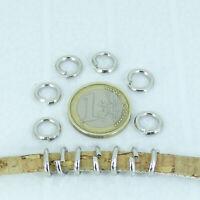 80 Anillas Gruesas Abiertas 10x1,9mm T344H Acero Open Ring Steel Anello Llavero