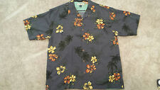 Tommy Bahama Mens Hawaiian Bowling camp Shirt  w/pocket Flowers Trees LG