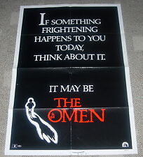 THE OMEN  1976  ORIGINAL  ONE SHEET MOVIE POSTER  UNCOMMON STYLE
