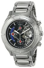 Versace Men's VK8010013 DV ONE Skeleton Chrono Automatic Self Wind Silver Watch