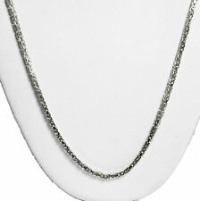 "11.80 gm 14k Solid White Gold Women's Men's Byzantine Chain Necklace 18"" 2mm"