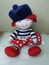 Baby Starters French Doll Security Lovey Plush Beret Polka Dot Skirt Rashti 2011