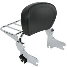 Backrest Sissy Bar Set W/ Luggage Rack For Harley Road King Street Glide Electra