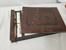 Antique Leather Bound Stamp Album Started in Late 1800's