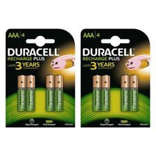 8x Duracell AAA Rechargeable Batteries NiMH 750mAh for ACCU DECT Phone etc. etc.