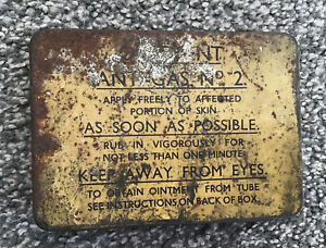 WW2 Anti Gas Ointment No 2 Tin with Full Contents