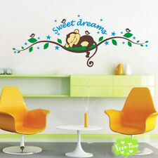 Monkey Jungle Animal Branches Wall Stickers Kids Room Nursery Art Decal Decor