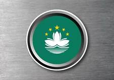 Macau flag sticker quality 7 year water & fade proof vinyl car ipad