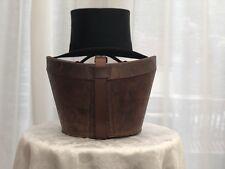 Vintage Lincoln Bennett & Co (London) Black Top Hat - Size 7 (55.9cm) w/ box