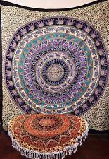 Indian Cotton Throw Bohemian Bedspread Mandala Tapestry Wall Hanging Hippy Decor