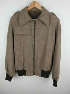Burton Mens Wool Jacket Size L / 40 Full Length Zip Vintage Made in England