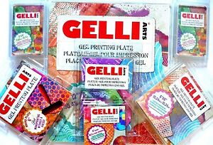Gelli Arts Gell Printing Plate, Monoprinting without Press Round,Square,3x5,8x10