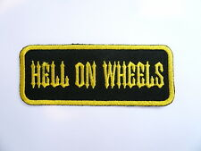 Hell on wheels, patch, écusson, aufbügler, badge, hot rod, American Muscle Cars, Bike