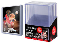 5 Ultra Pro 3x4 Super Thick Toploaders 360 pt Card Holders New
