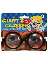 Giants Glasses Nerd Geek Specs Thick Bottle Lenses Fancy Accessory School Boy