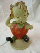 Vintage 1942 Pee Dee Chalkware Stella Strawberry Baby