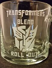 Transformers Coffee Autobot Decepticon Custom Etched Coffee Cup